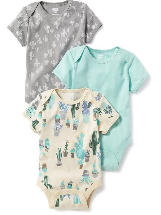624cd0ca6493 Printed 3-Pack Bodysuit for Baby Adorable Baby Clothes