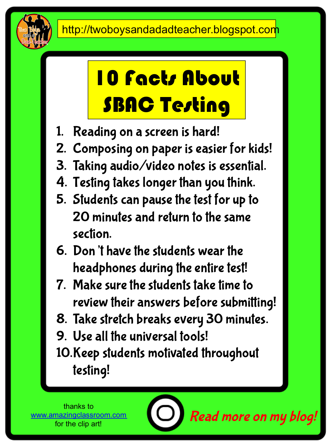 10 Facts About Sbac Testing Two Boys And A Dad Blog