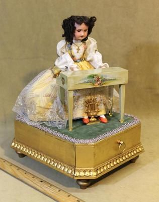 Vintage French Mechanical Piano Playing *Doll Automoton Music Box* Jewelry