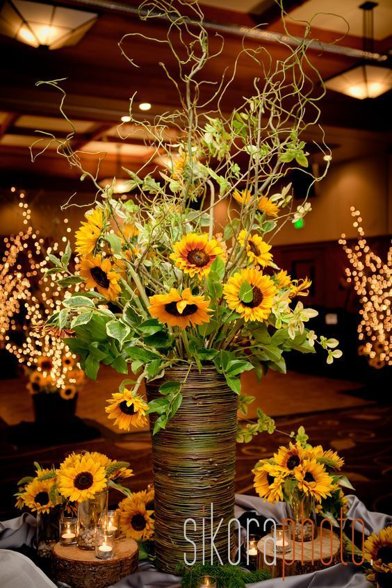 Bold country sunflower wedding ideas flower