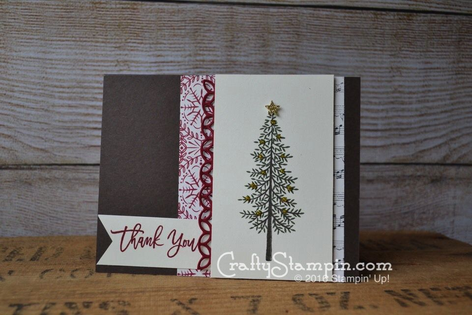 Christmas Thank You with Thoughtful Branches Stamp set and bundle - Crafty Stampin; Stampin Up