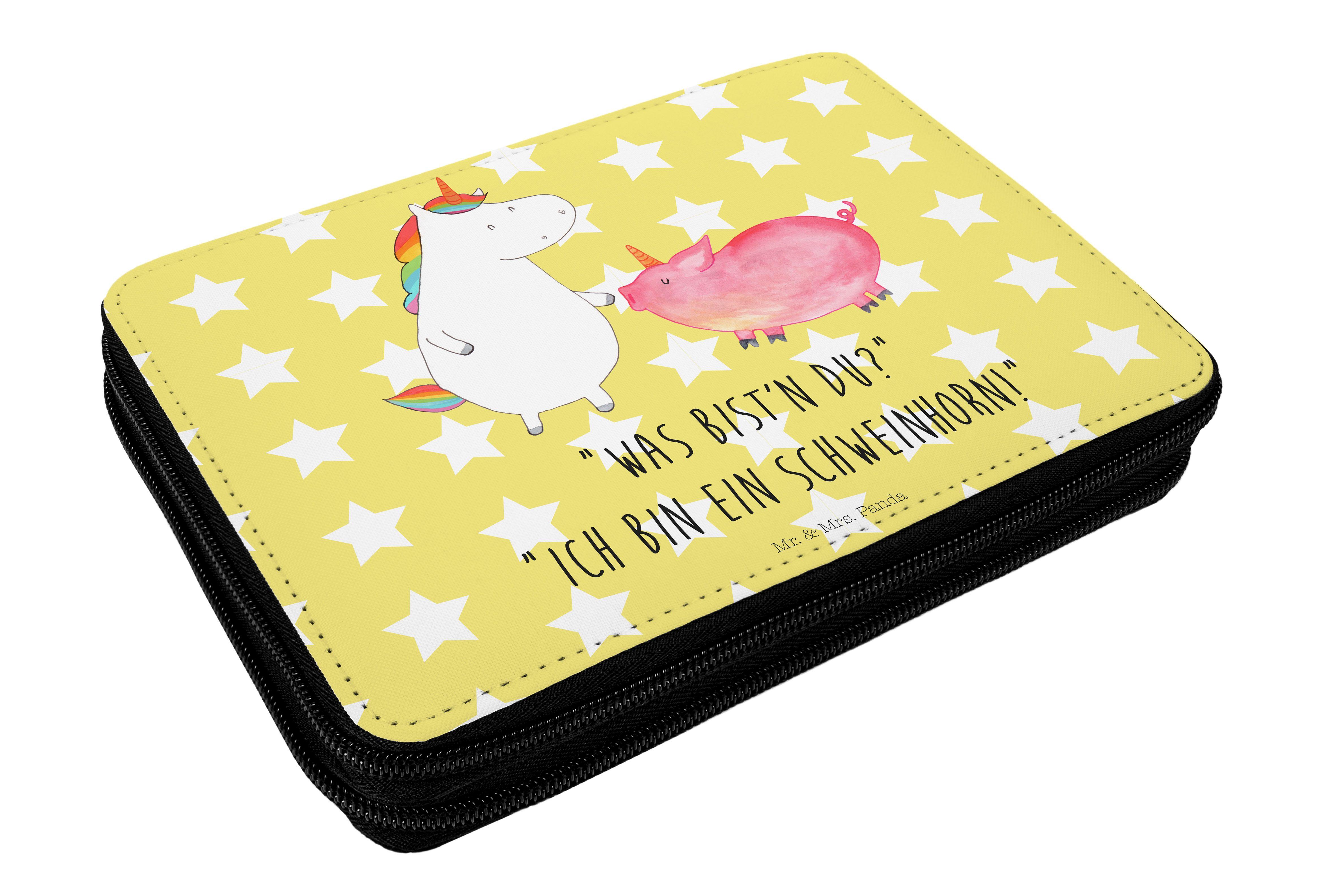 Federmappe Einhorn + Schweinhorn aus Kunstfaser  Natur - Das Original von Mr. & Mrs. Panda.  Diese wunderschöne Federmappe von Mr. & Mrs. Panda ist etwas ganz besonderes. Sie wird liebevoll bedruckt und ist voll bestückt inkl. Bunt- und Filzstiften, Lineal, Spitzer, Radierer. Sie entspricht REACH Verordnung (EG) Nr. 1907/2006     Über unser Motiv Einhorn + Schweinhorn  Ein Einhorn Edition ist eine ganz besonders liebevolle und einzigartige Kollektion von Mr. & Mrs. Panda. Wie immer bei…