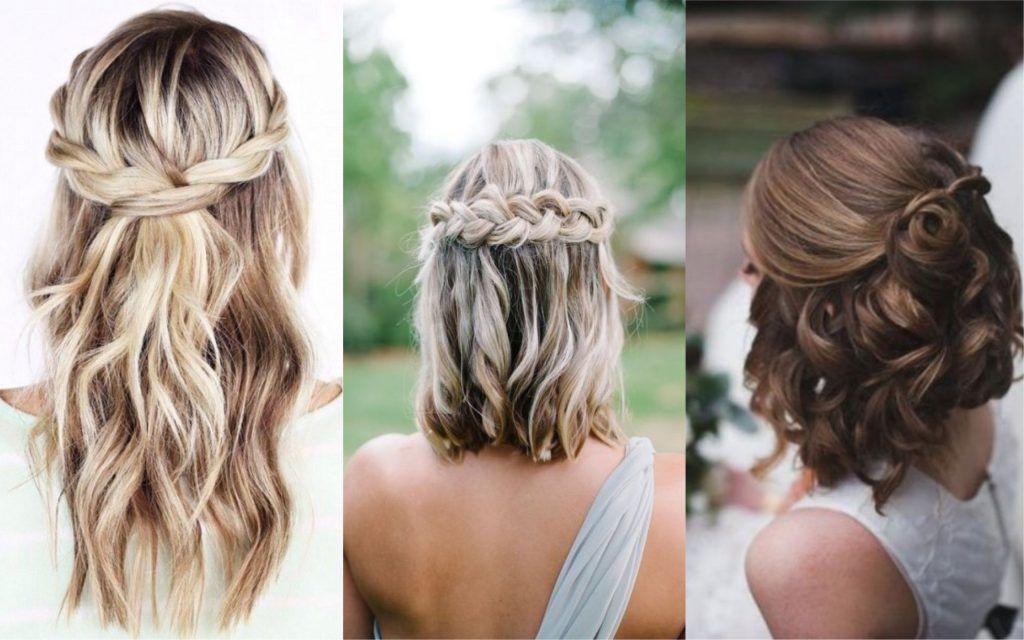 Peinados invitada boda semi recogido