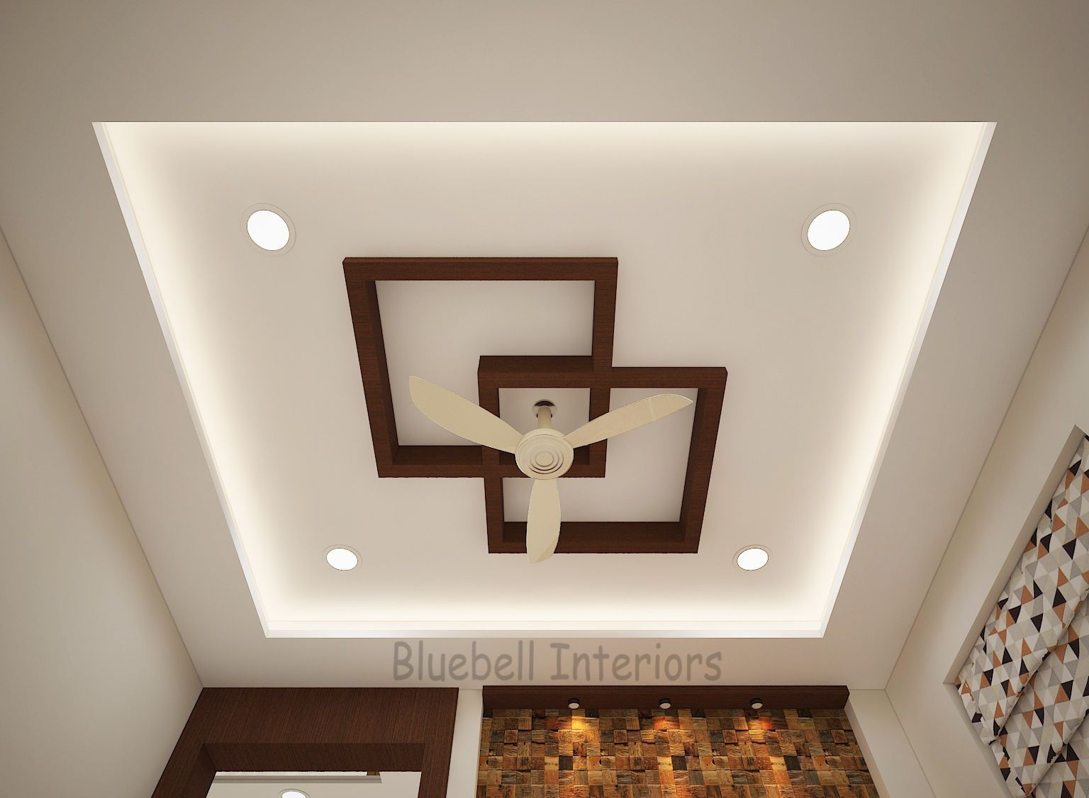 Square In Square Wooden Ceiling Drawing Room Ceiling In 2020
