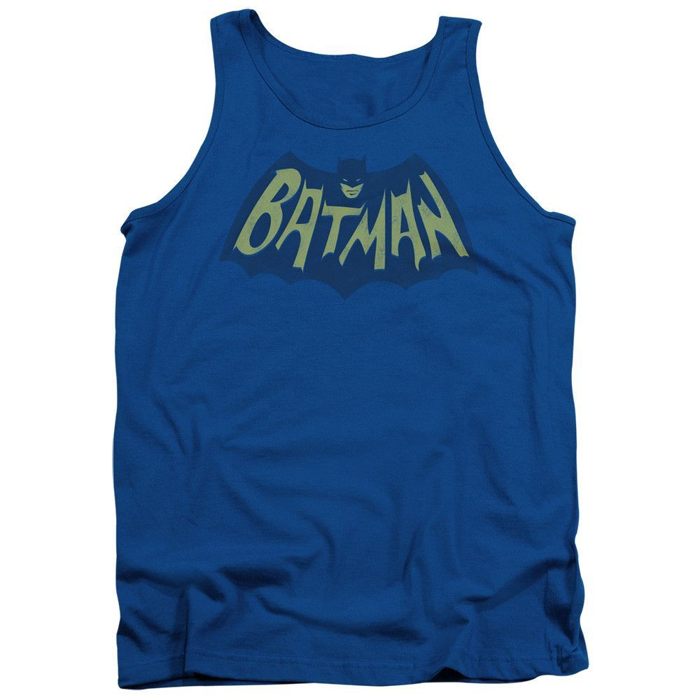 BATMAN/SHOW BAT LOGO - ADULT TANK - ROYAL -