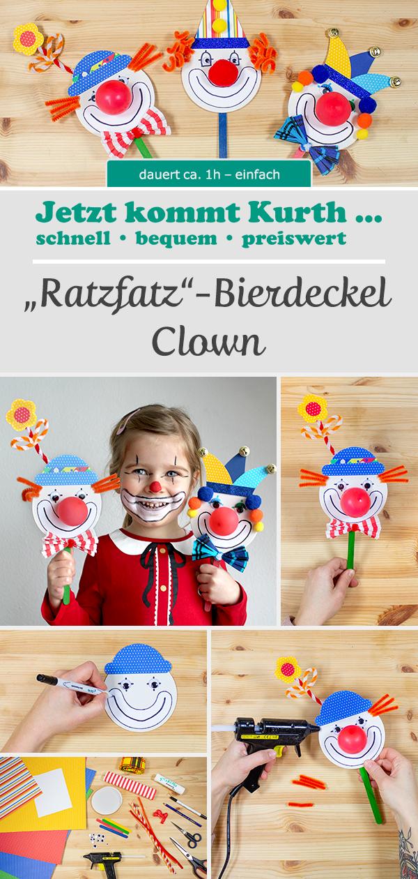 Bierdeckel Clown