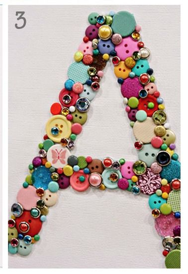 button-monogram by pearls for paper