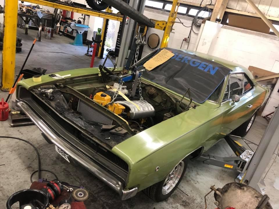 1968 Charger With A Mercedes Om606 Inline Six Mercedes Engine Swap Diesel