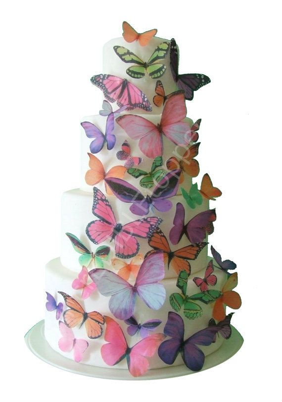 Wedding Cake Topper THE KAITLYN Edible Butterflies Butterfly