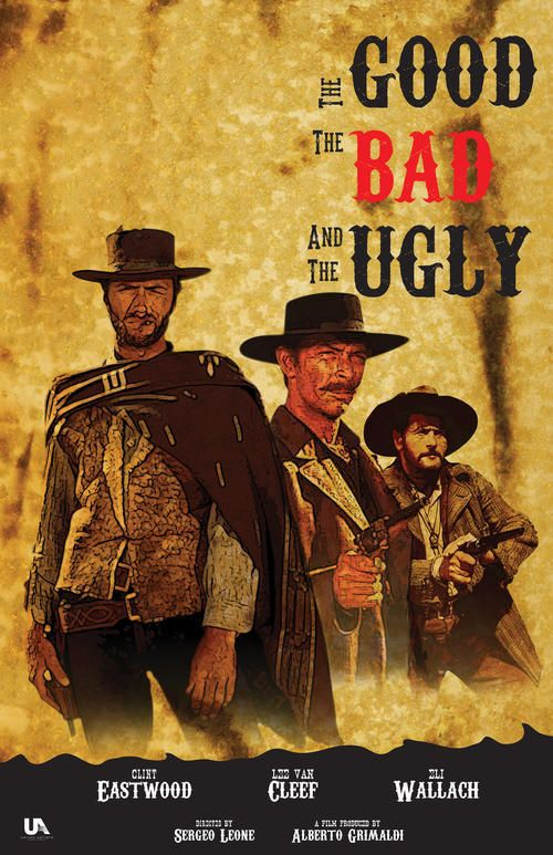 EASTWOOD 160706 THE GOOD THE BAD AND THE UGLY CLASSIC MOVIE POSTER 24x36