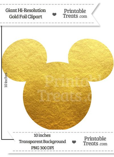Gold Foil Giant Mickey Mouse Head Clipart Mickey Mouse Head Mickey Mouse Themed Birthday Party Mickey Mouse