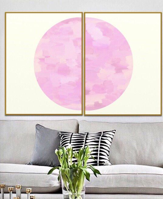 Abstract Print Set, Set of 2 Prints, Abstract Art Print Blush Pink ...