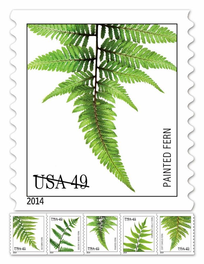 A Perfect Pairing Fern Postage Stamps Postage Pinterest Fern