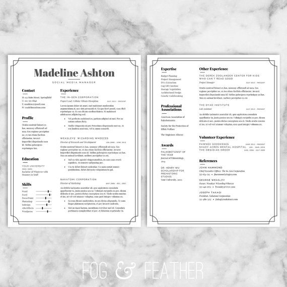 wwwetsy/ca/listing/276323496/resume-template-cv - example cover letter resume