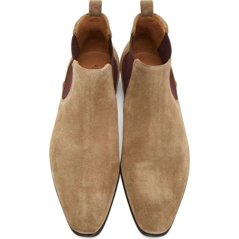 9b93a266a5aa PS by Paul Smith Ecru Suede Falconer Chelsea Boots
