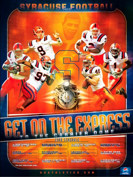 2008 Syracuse Football Express themed Syracuse football