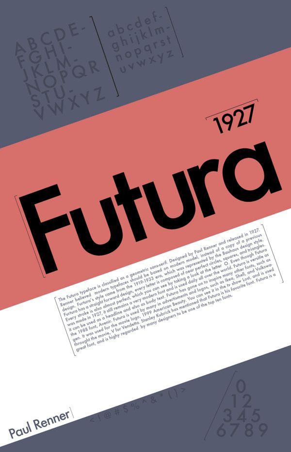 Futura Typeface Poster by Matthew Benkert, via Behance