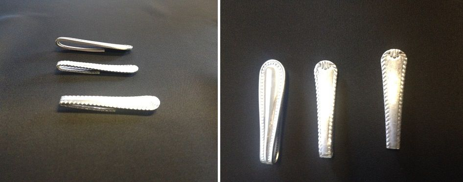 Spoon handle money clips
