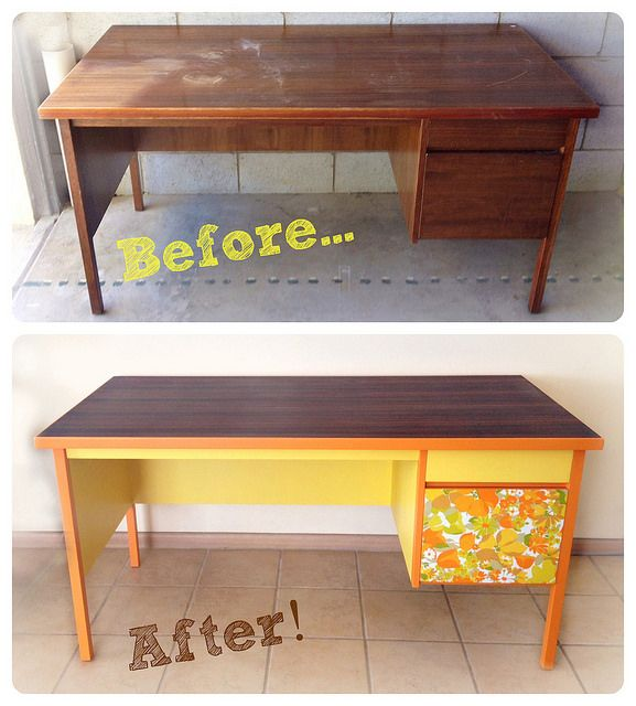 My New Old Desk Vintage Retro Furniture Makeover