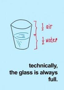 유리컵은 늘 차있다