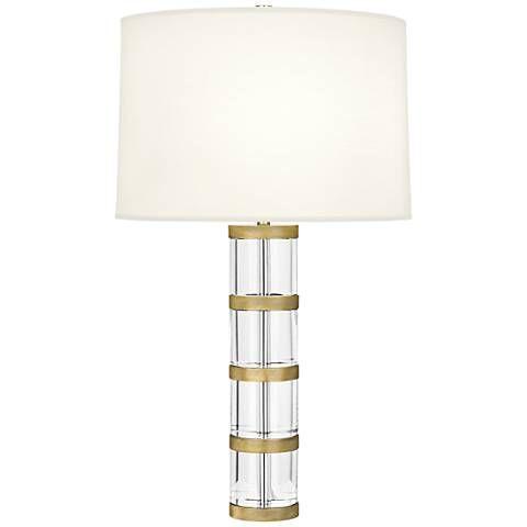 Robert Abbey Wyatt Modern Brass Table Lamp With White Shade 19n26 Lamps Plus Modern Brass Table Lamps Table Lamp Tall Table Lamps