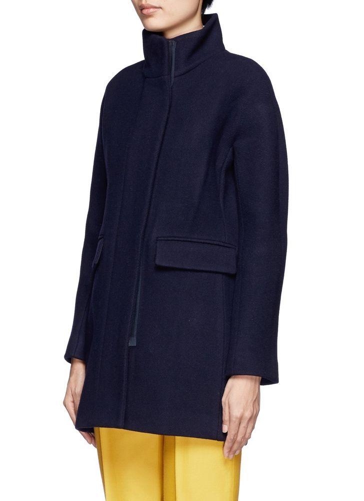 NWT J. Crew Women stadium-cloth cocoon coat Jacket / P4 / Navy b2740 #JCrew #COATJACKET