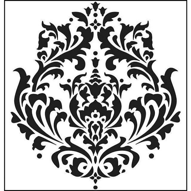 Bettwasche Barock Muster ~ Schablonenmalerei barock stil damask muster vorlage