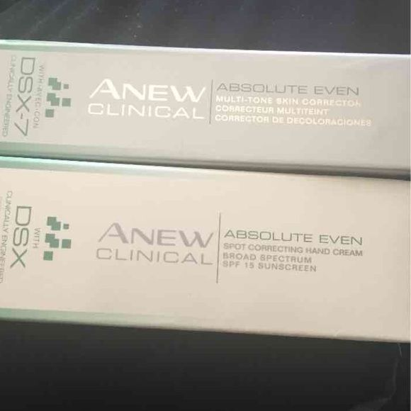 Avon anew clinical spot and skin corrector Spot hand cream reduces dark spots. Multi skin corrector helps erase the look of discoloration. Selling inventory Avon Other
