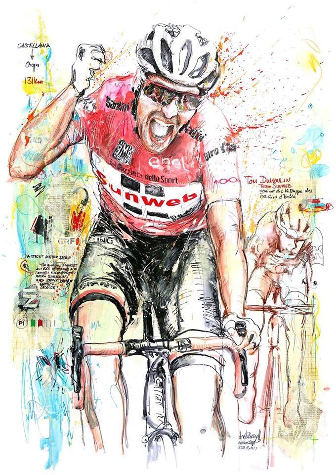 Tom Dumoulin Wins Stage 14 Giro D Italia 2017 By Horst Brozy Fietskunst Fietsen Fiets