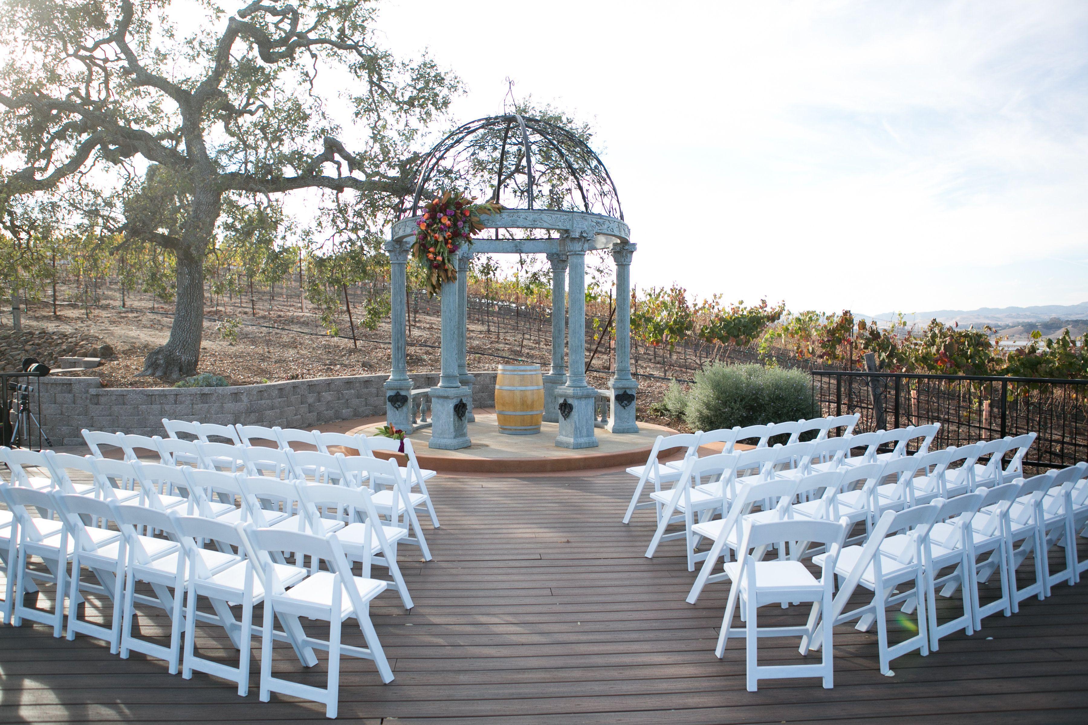 Fall Wedding Napa Meritage Resort Vineyard Deck