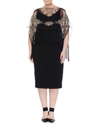 Diletto Sleeveless Dress W/ Poncho, Women\\\'s by Marina ...