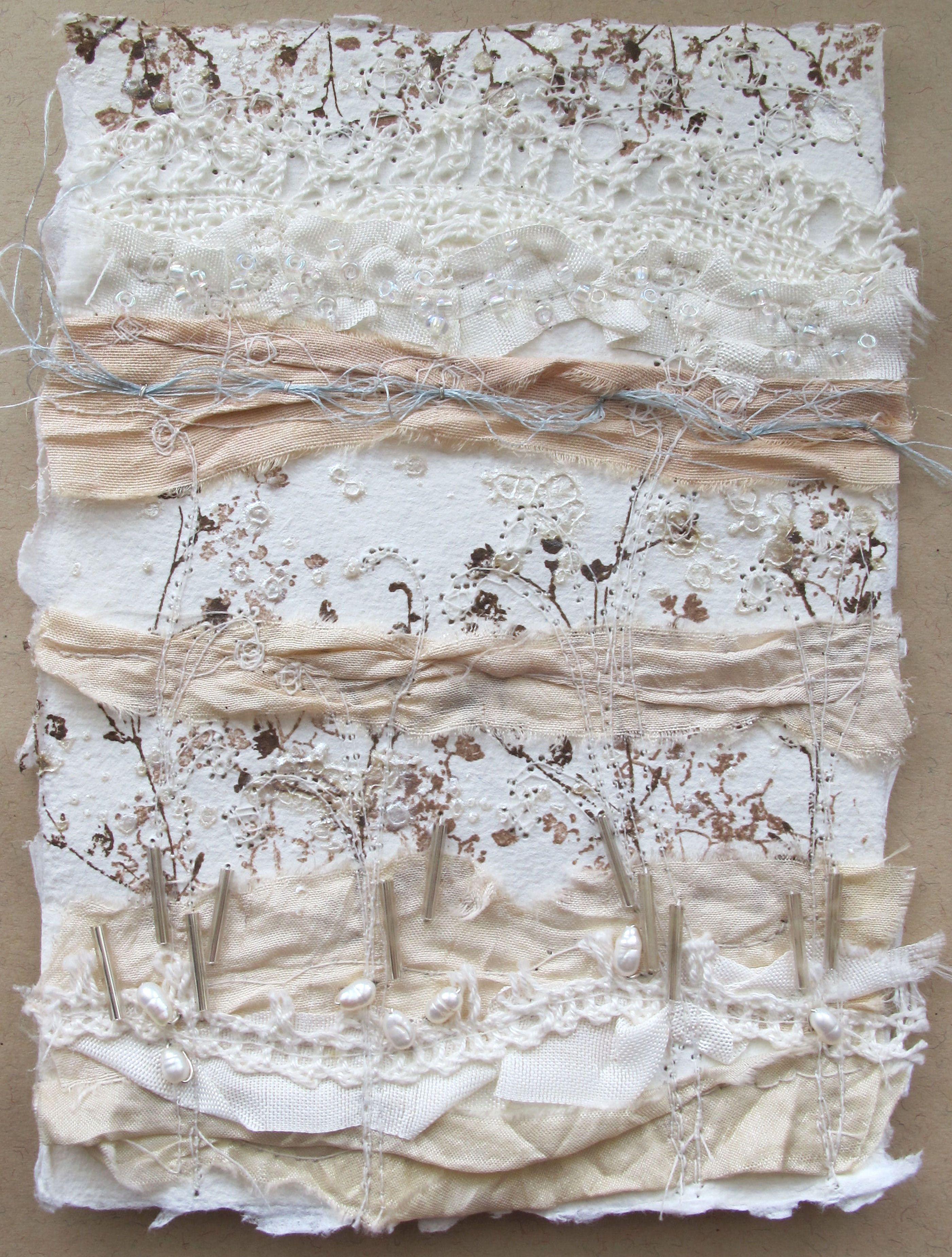 Winter Sari Silk collage by Velvet Moth Studio | Free motion ...