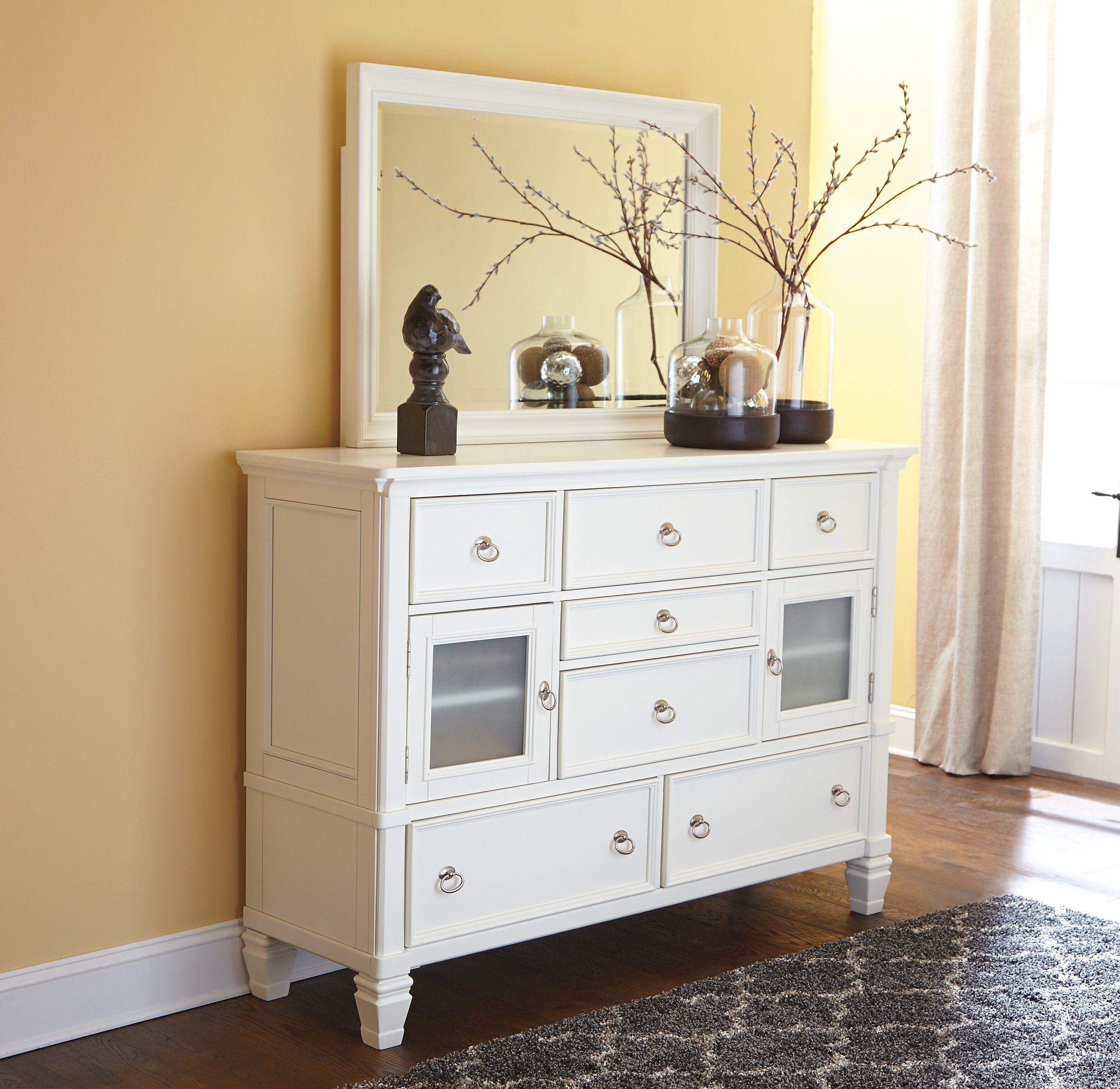 Best Ashley Prentice B672 31 Millennium Dresser Tall White 400 x 300