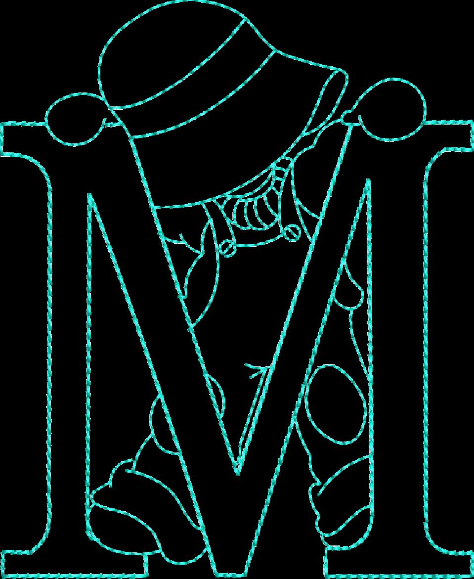 Alfabeto riscos ou moldes de letras Sunbonnet Sue bordado | Máquinas ...