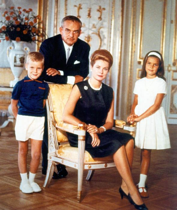 Princess Grace Of Monaco And Her Husband Rainier III Prince With Their Children