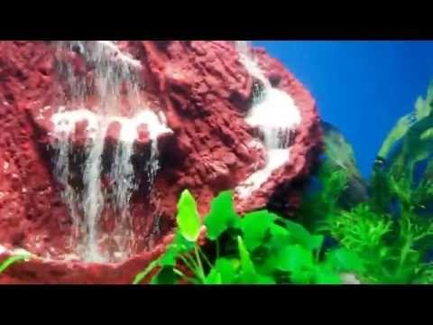 aquarium sand waterfall 13 youtube freshwater fish tank ideas
