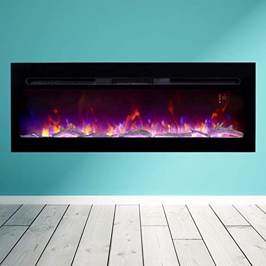This Electric Fireplace Will Have Your Home Looking Chic And Cozy All Year Round Specifications Bizhomart Doris In 2020 Electric Fireplace Warm Modern Wall Mount