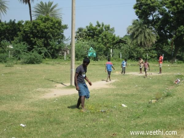 Guys Playing at the Street of Mangadu, Chennai