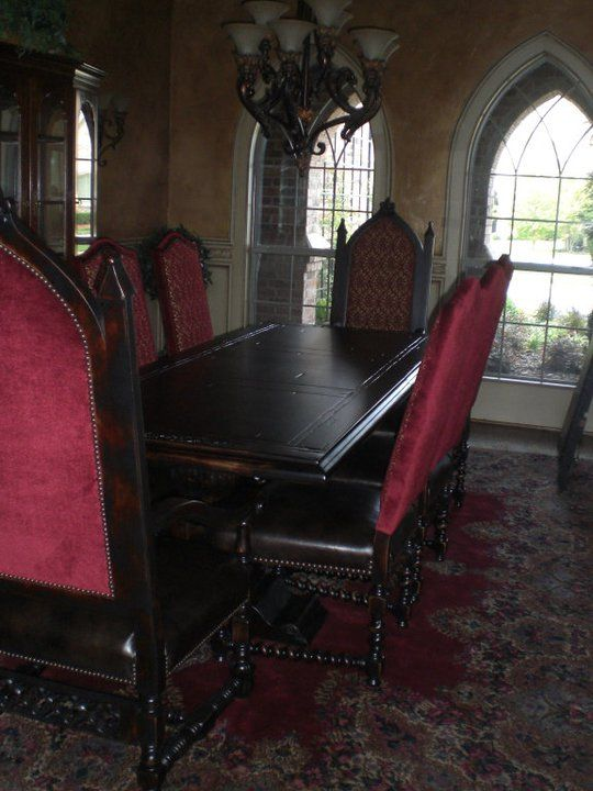 Dining Room Set Gothic Kitchen Victorian Gothic Decor
