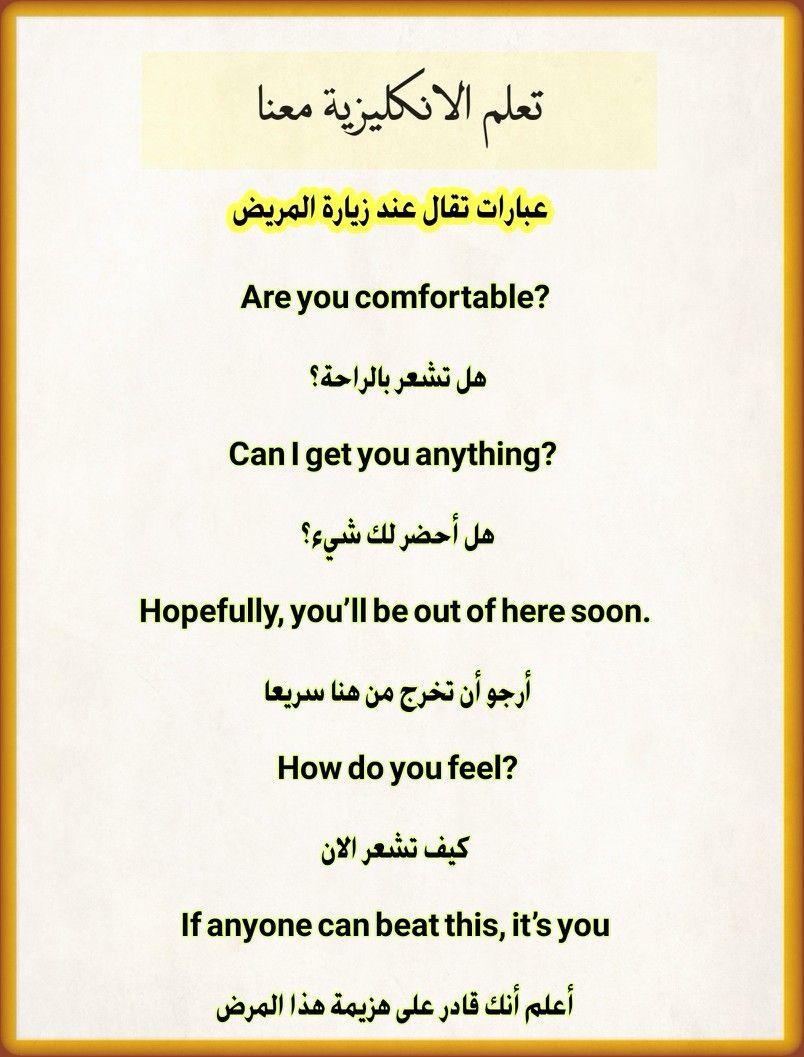 تعلم الانكليزية معنا English Phrases English Words English Language Learning