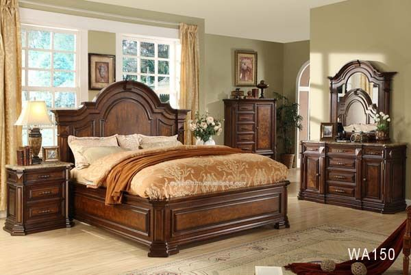 Manufacturers List Price Solid Wood Bedroom Furniture Wa150 Bedrooms From China