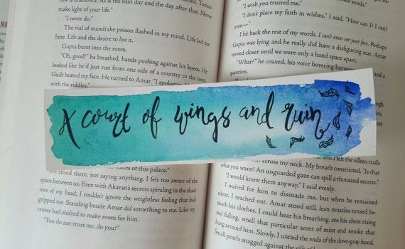 A Court Of Thorns And Roses Watercolor Bookmark A Court Of Mist