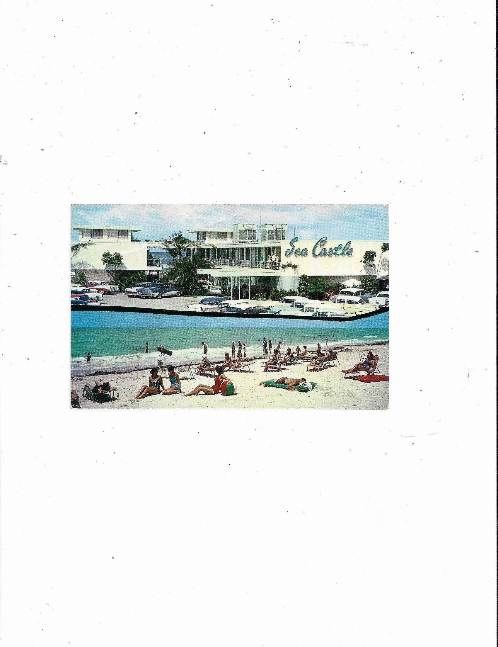 1959 Postcard Of Sea Castle Apt Motel Treasure Island St Etsy Treasure Island Postcard Vintage Postcard