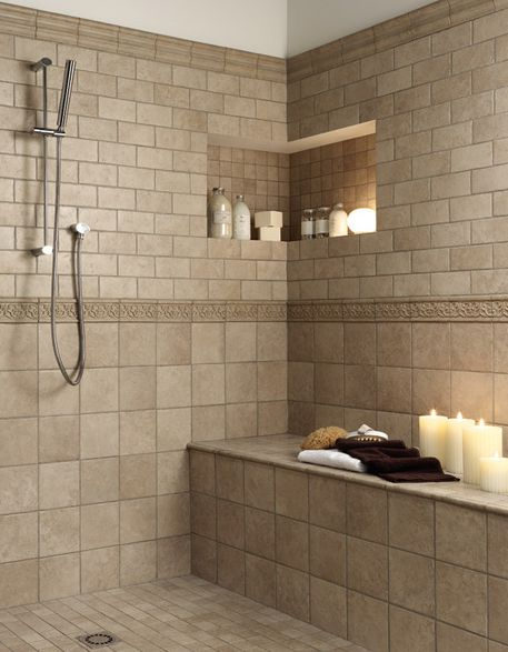 Bathroom Ceramic Tile Design Magnificent Bathrooms With Travertine And Bead Board  Bathroom Walls Inspiration Design