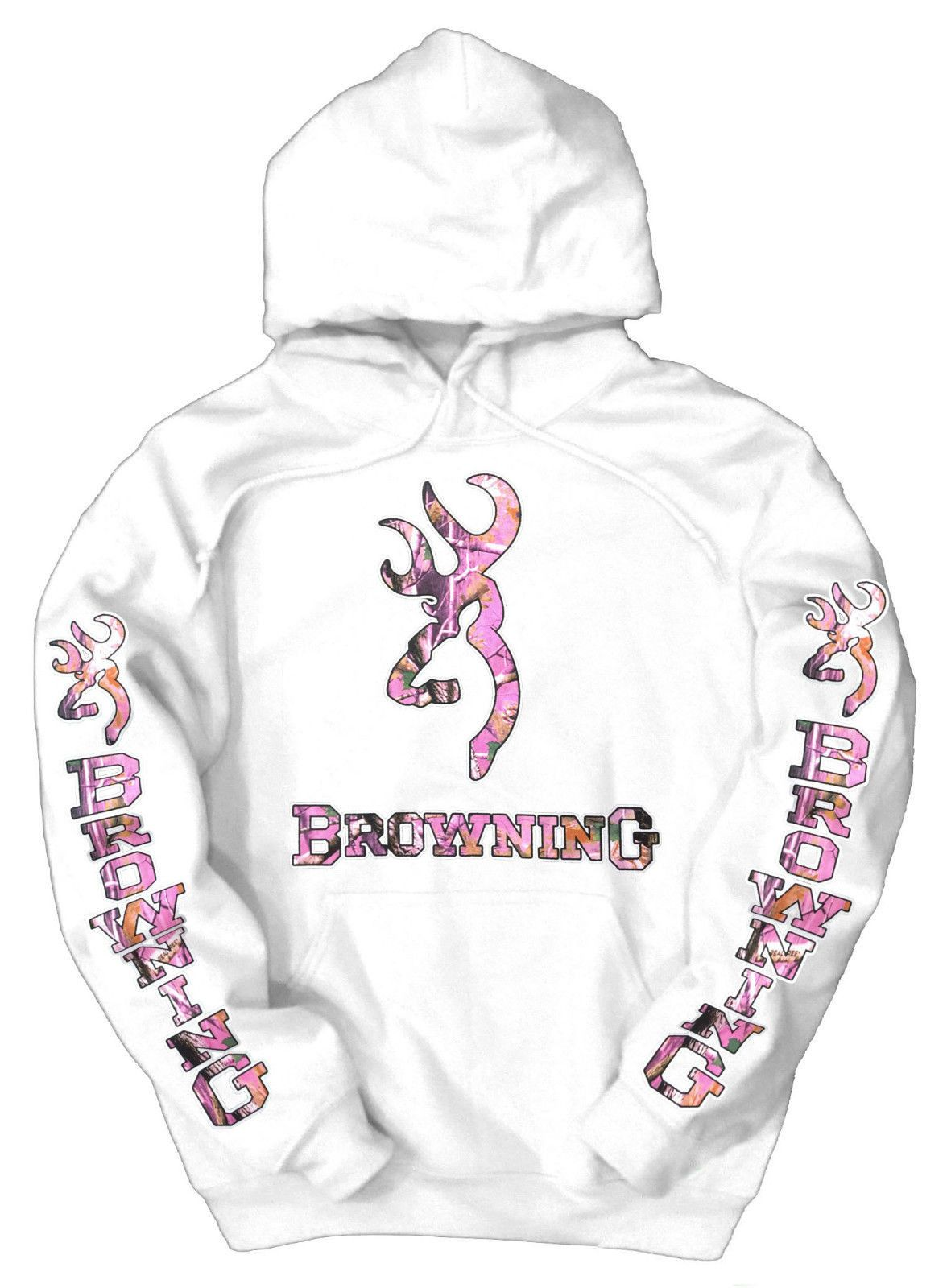 eb33fd9bd86e White Pink Camo Browning Hoodie