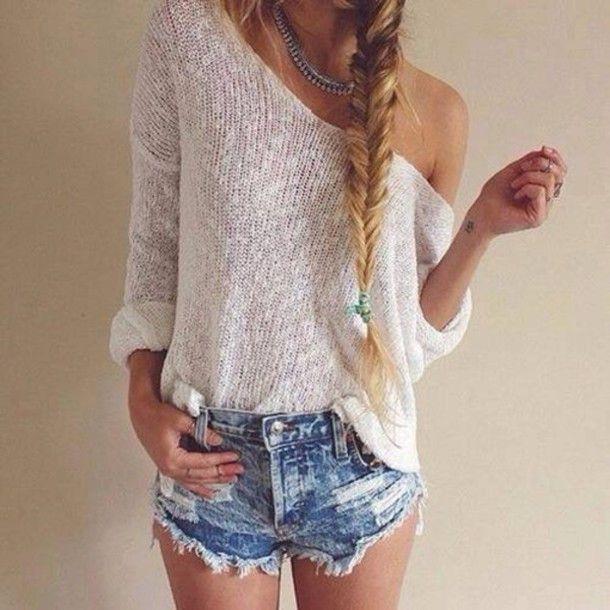 7634d876bf1ac denim jeans high waisted summer shorts crochet lace up top t-shirt bra  bralette bustier