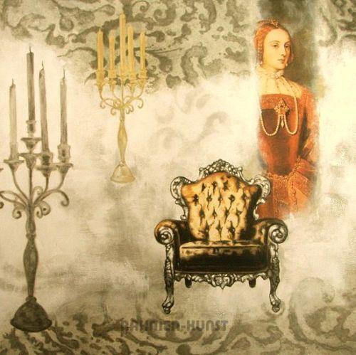 Valerie-Deleau-Vincennes-II-Fertig-Bild-70x70-Wandbild-Interieur-Barock-Leuchte