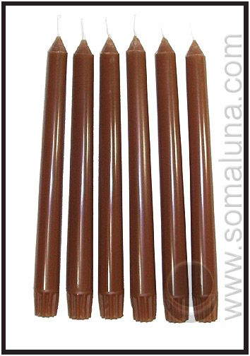 Autumn Brown Taper Candles
