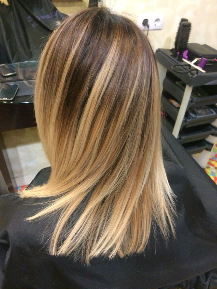 Highlights Brown Roots Lighter Ends Ombre Balayage Ombre Balayage Balayage Hair Ombre Ombre Hair Color