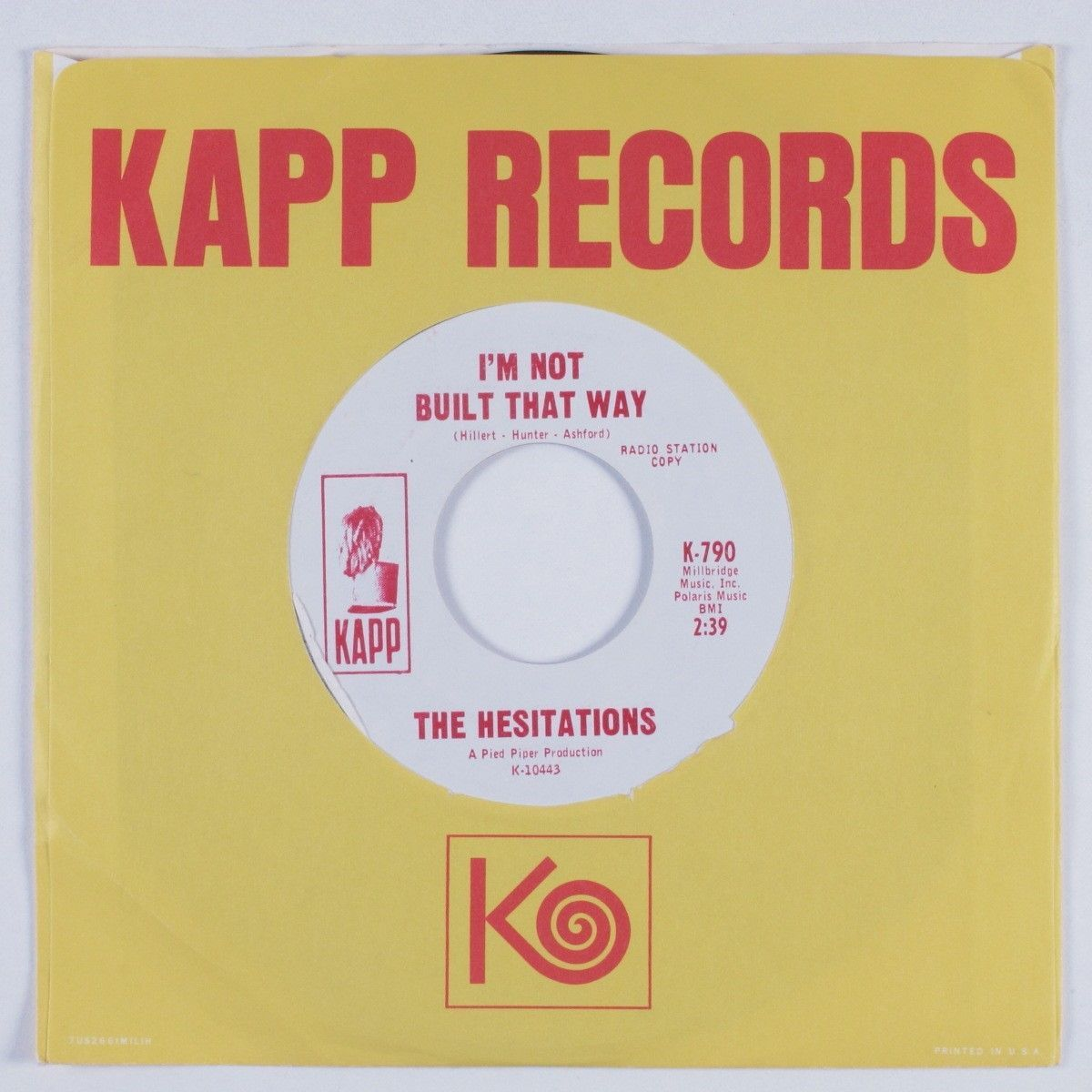 Northern Soul 45 HESITATIONS I'm Not Built That Way KAPP promo HEAR  https://t.co/qqVkhCER18 https://t.co/H8XVY7R5LM